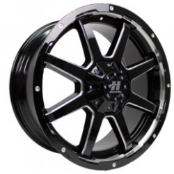Hussla 17x9.0 Stealth Gloss Black Milled