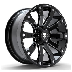 Hussla 18x9.0 Soldier Matte Black Milled