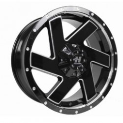 Hussla 20x9.0 Chopper Gloss Black Milled