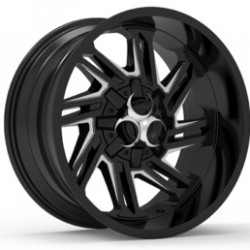 Hussla 20x9.0 Toxic Razr Gloss Black Milled