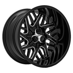 Hussla 20x9.0 Toxic Lethal Gloss Black Milled