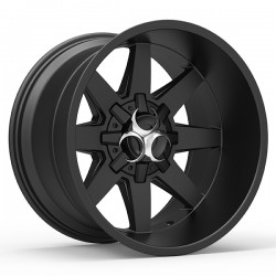 Hussla 20x9.0 Toxic Widow Matte Black