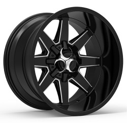 Hussla 17x9.0 Toxic Widow Gloss Black Milled