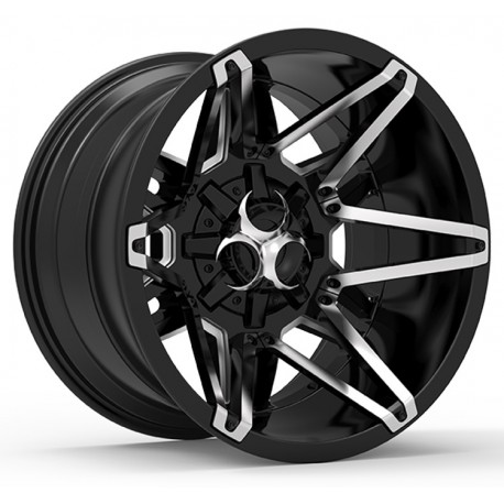 Hussla 18x9.0 Toxic Shok Gloss Black with Chrome Inserts