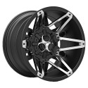 Hussla 17x9.0 Toxic Shok Matte Black with Chrome Inserts