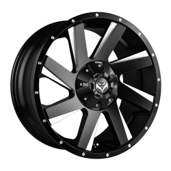 Vertini 17x9.0 Wings Black Face Milled Spokes