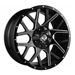 Vertini 20x9.0 Mesh Black Face Milled Spokes