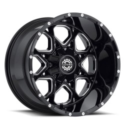 Scorpion 20x14 SC10 Gloss Black Milled