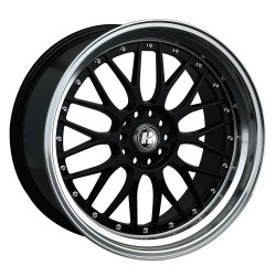 Hussla 17x7.0 021 Gloss Black Machined Lip