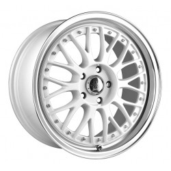 Hussla 17x7.0 021 White Machine Lip