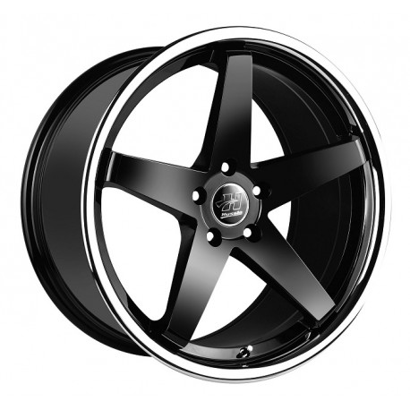 Hussla 20x10 Chase Matte Black Chrome Lip