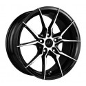 Hussla 16x7.0 Spider 673 Black Machine Face