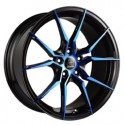 Hussla 18x8.0 Spider 673 Black Blue Face
