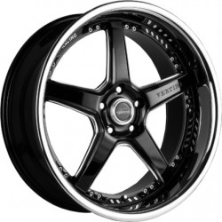 Vertini 19x9.5 Drift Gloss Black Chrome Lip