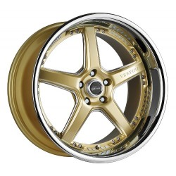 Vertini 19x9.5 Drift Gold Face Chrome Lip