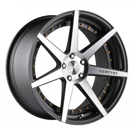 Vertini 19x9.5 Dynasty Matte Grey Machine Face