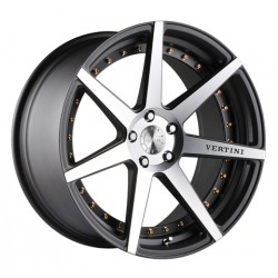 Vertini 22x10.5 Dynasty Matte Grey Machine Face