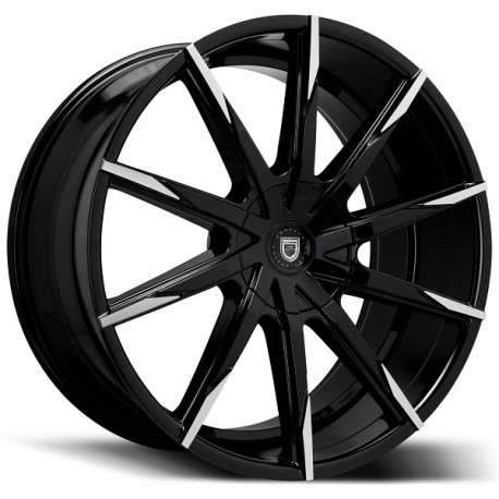 Lexani 20x10 CSS15 Gloss Black Machine Tips