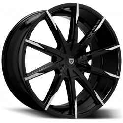 Lexani 22x9.0 CSS15 Gloss Black Machine Tips