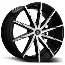 Lexani 22x10 CSS15 Gloss Black Machine Face
