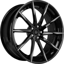 Lexani 22x9.0 CSS15 Gloss Black Grey Tips