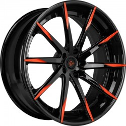 Lexani 22x10 CSS15 Gloss Black Orange Tips
