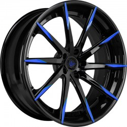 Lexani 22x9.0 CSS15 Gloss Black Blue Tips