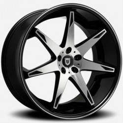 Lexani 22x9.0 R14 Machine Face Black Lip