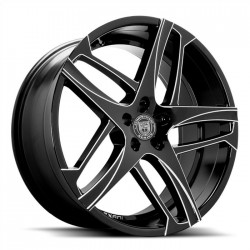 Lexani 24x9.0 Bavaria Gloss Black Machine Accents