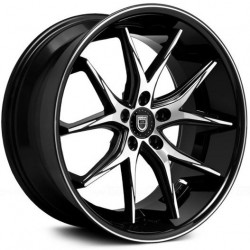 Lexani 20x8.5 R12 Machine Face Black Lip
